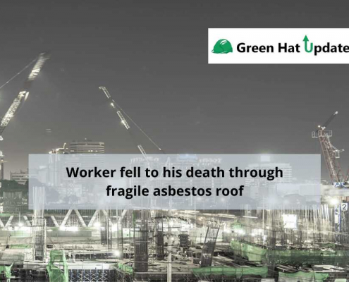 Worker fell to his death through fragile asbestos roof.