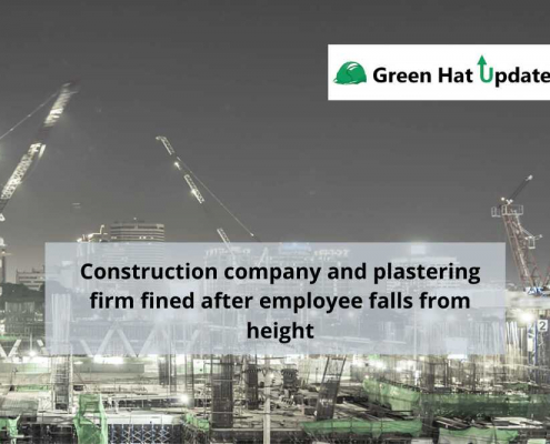 Construction company and plastering firm fined after employee falls from height